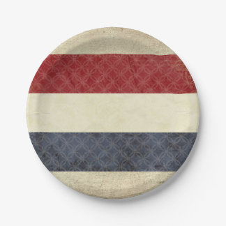 Holland Flag Paper Plates