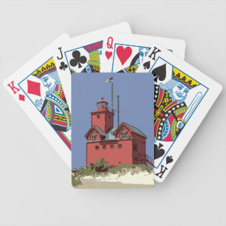 HOLLAND HARBOR LIGHT BICYCLE PLAYING CARDS