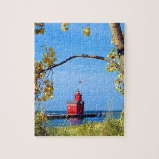 Holland Harbor Lighthouse Jigsaw Puzzle