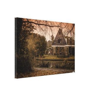 Holland in fall Landscape Single Canvas