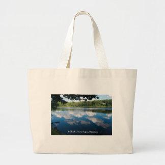 Holland Lake Scenic in Eagan Large Tote Bag