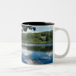 Holland Lake Scenic in Eagan Two-Tone Coffee Mug