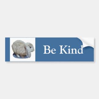 "Holland Lop Ear Rabbit ""Be Kind"" Bumper Sticker"