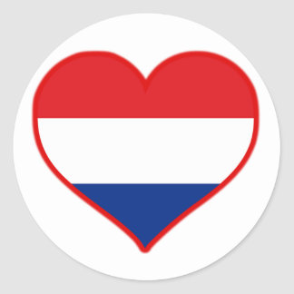 Holland Love Classic Round Sticker