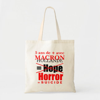 Holland + Macron = Horror - Tote bag