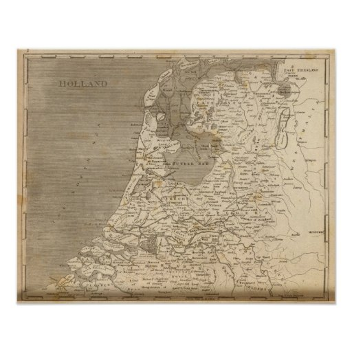 Holland Map by Arrowsmith Poster