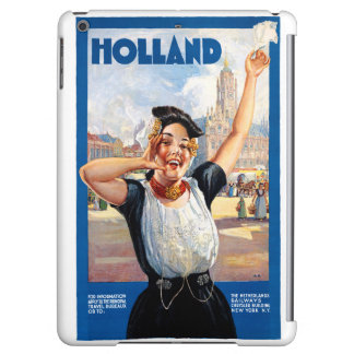 Holland Netherlands Restored Vintage Travel Poster Case For iPad Air