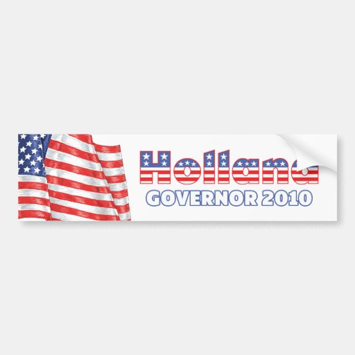 Holland Patriotic American Flag 2010 Elections Bumper Stickers