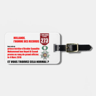 Holland Record Legions of Honor - Luggage Tag