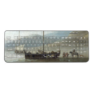 Holland Sailboat Fishing Boats Beach Sea Keyboard