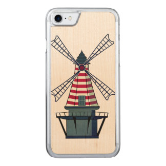Holland Windmill Carved iPhone 8/7 Case