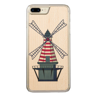 Holland Windmill Carved iPhone 8 Plus/7 Plus Case