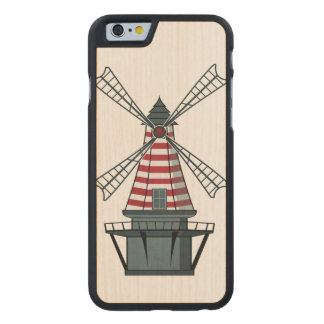 Holland Windmill Carved Maple iPhone 6 Case