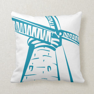 Holland Windmill in Blue Throw Pillow