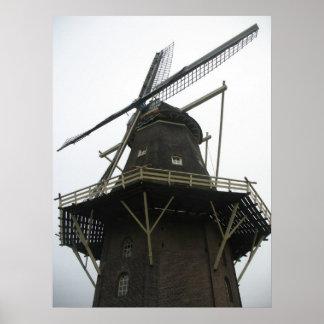 Holland Windmill Winter Photo Poster Art