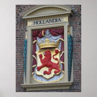 Hollandia Dutch Old Gable Stone Photo Poster Print