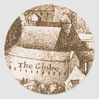 Hollar's Globe Theatre Classic Round Sticker