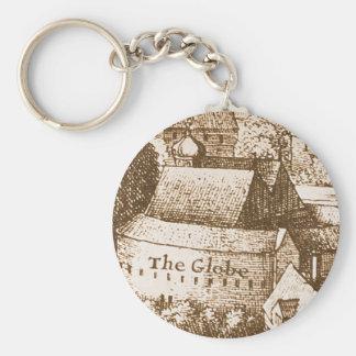 Hollar's Globe Theatre Keychain