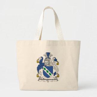 Hollingsworth Family Crest Jumbo Tote Bag