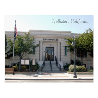 Hollister, CA City Hall Postcard