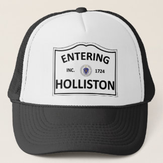 HOLLISTON MASSACHUSETTS Hometown Mass MA Townie Trucker Hat