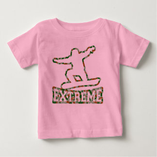 HOLLOW EXTREME SNOWBOARDER IN GREN BROWN CAMO BABY T-Shirt