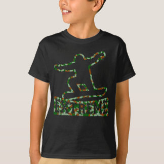 HOLLOW EXTREME SNOWBOARDER IN GREN BROWN CAMO T-Shirt
