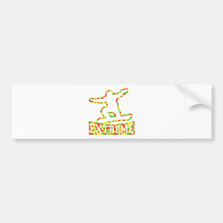 HOLLOW EXTREME SNOWBOARDER IN RGY CAMO BUMPER STICKER