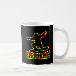 HOLLOW EXTREME SNOWBOARDER IN RGY CAMO COFFEE MUG