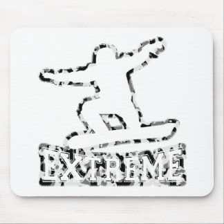 HOLLOW EXTREME SNOWBOARDER IN URBAN CAMO MOUSE PAD