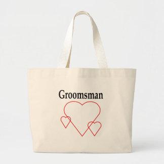 Hollow Hearts Groomsman Jumbo Tote Bag