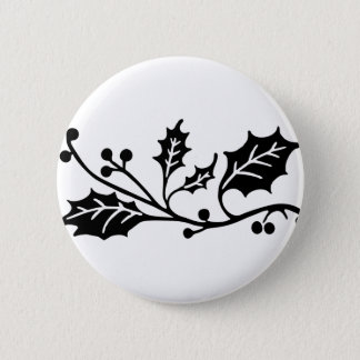 Holly 2 Inch Round Button