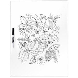 Holly Adult Coloring Dry Erase Boards