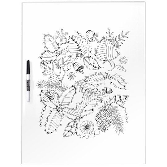 Holly Adult Colouring Dry Erase Boards
