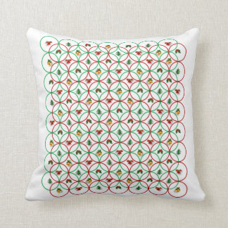 Holly And Bells Christmas Throw Pillow