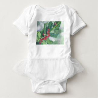Holly and Berries Baby Bodysuit