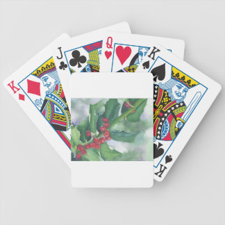 Holly and Berries Bicycle Playing Cards