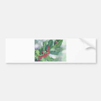 Holly and Berries Bumper Sticker