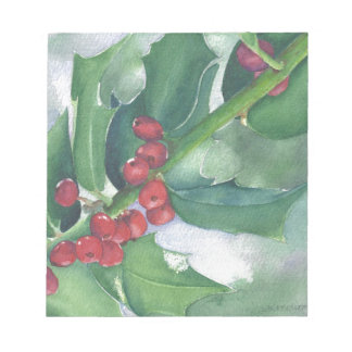 Holly and Berries Notepad