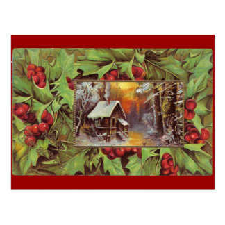 Holly and Cottage Postcards