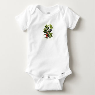holly and ivy design Christmas Baby Onesie