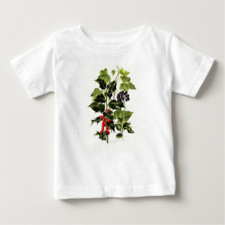 holly and ivy design Christmas Baby T-Shirt