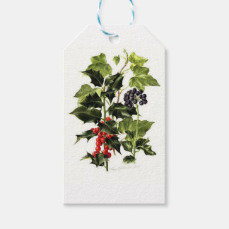 holly and ivy design Christmas Gift Tags