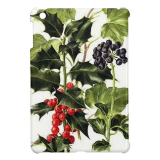 holly and ivy design Christmas iPad Mini Covers