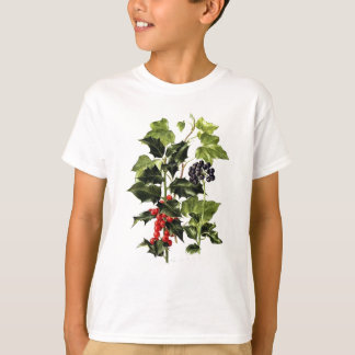 holly and ivy design Christmas T-Shirt