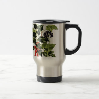 holly and ivy design Christmas Travel Mug