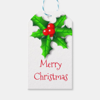 Holly and Ivy Merry Christmas Gift Tags