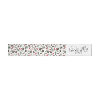 Holly and Pine Christmas Wrap Around Label