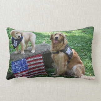 Holly and pup pillow