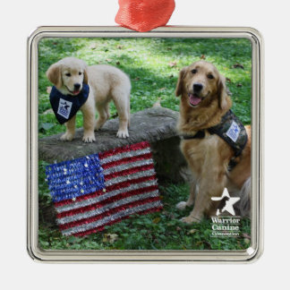 Holly and Pup Uniform ornament